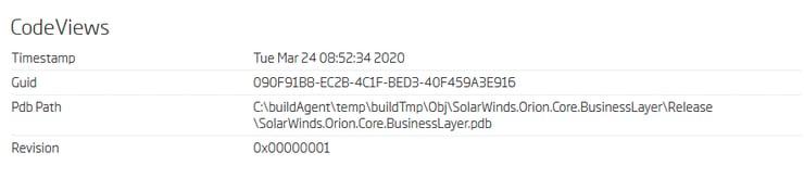 Backdoored library PDB symbols time [ver. 2019.4.5200.9083]